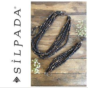 Silpada Palm Wood bead Necklace & Bracelet!